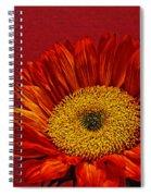 Red Sunflower Viii Spiral Notebook