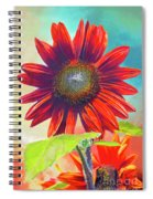 Red Sunflowers At Sundown Spiral Notebook