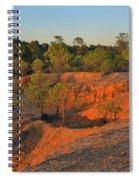 Red Sunset Cliffs Spiral Notebook