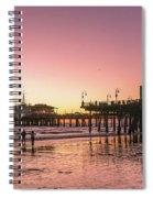 Red Sunset In Santa Monica Spiral Notebook
