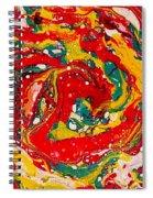 Red Swirl Spiral Notebook