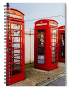 Red Telephone Booths London Spiral Notebook