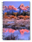 Red Tip Teton Reflection Panorama Spiral Notebook