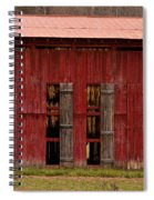 Red Tobacco Barn Spiral Notebook