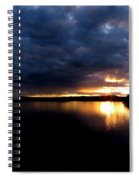 Red Toned Clouds Spiral Notebook