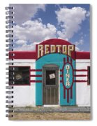 Red Top Diner On Route 66 Spiral Notebook