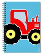 Red Toy Tractor Spiral Notebook