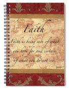 Red Traditional Faith Spiral Notebook