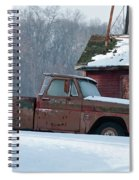 Red Truck In The Snow Spiral Notebook
