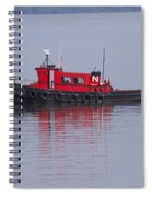 Red Tug On Lake Superior Spiral Notebook