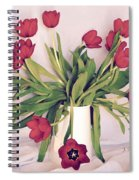 Red Tulips In Full Bloom Spiral Notebook