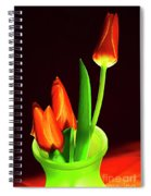 Red Tulips In Vase # 4. Spiral Notebook
