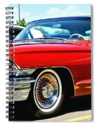 Red Vintage Cadillac Spiral Notebook