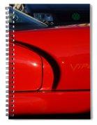 Red Viper Spiral Notebook