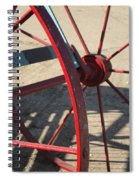 Red Waggon Wheel Spiral Notebook