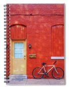 Red Wall White Bike Spiral Notebook