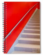 Red Walls Staircase Spiral Notebook