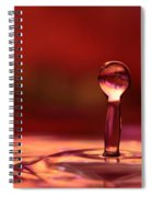 Red Water Drop Spiral Notebook
