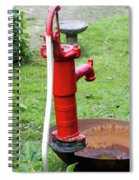 Red Water Pump Spiral Notebook