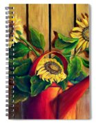 Red Watering Can With  Sunflowers.  Sold Spiral Notebook
