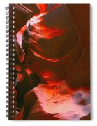 Red Wave Spiral Notebook