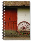 Red Wheel And Barn In Sweden Spiral Notebook