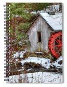 Red Wheel Spiral Notebook