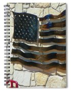 Red-white And A Little Blue Spiral Notebook