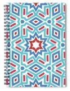 Red White And Blue Fireworks Pattern- Art By Linda Woods Spiral Notebook