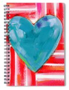 Red White And Blue Love- Art By Linda Woods Spiral Notebook