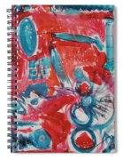 Red, White, And Blue Spiral Notebook