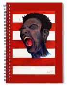 Red, White And Blue Spiral Notebook