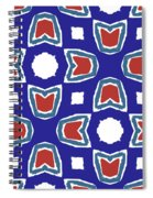 Red White And Blue Tulips Pattern- Art By Linda Woods Spiral Notebook