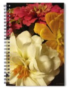Red White And Yellow Zinnias Spiral Notebook