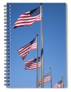 Red White Blue Spiral Notebook