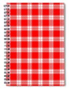 Red White Tartan Spiral Notebook
