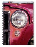 Red Willys Jeep Truck Spiral Notebook