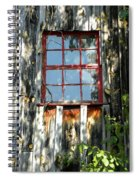 The Red Window Spiral Notebook
