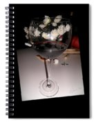 Red Wine With White Mums Spiral Notebook