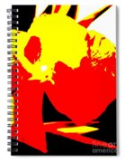 Red Yellow Abstract Spiral Notebook
