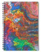 Red Yellow Blue Abstract Spiral Notebook