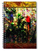 Redbird Sifting Beauty Out Of Ashes Spiral Notebook