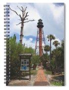 Redbrick Path To The Lighthouse Spiral Notebook