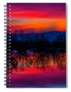 Reddening Sunset Spiral Notebook
