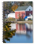 Redd's Pond Boathouse Marblehead Ma Massachusetts Spiral Notebook