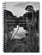 Redd's Pond Lupines Sunrise Black And White Spiral Notebook