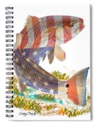 Redfish, White And Blue Spiral Notebook