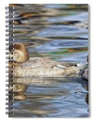 Redhead Duck Pair Spiral Notebook