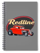Redline Hot Rod Garage Spiral Notebook