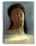 Redon: Closed Eyes, 1890 Spiral Notebook
